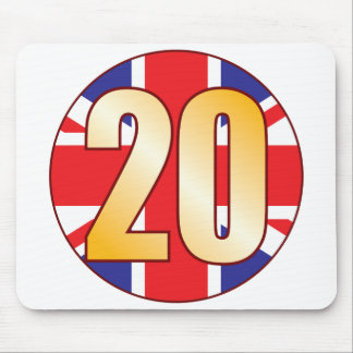 20 UK Gold Mouse Pad