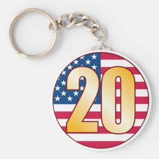 20 USA Gold Keychain
