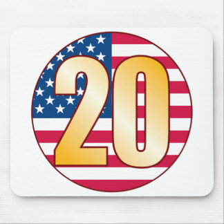 20 USA Gold Mouse Pad