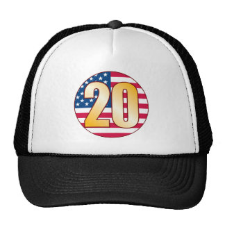 20 USA Gold Trucker Hat
