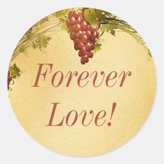 20 Vineyard Wedding Envelope Seal Classic Round Sticker