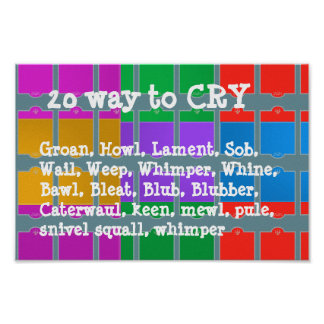 20 ways to CRY  : WONDER Color Mania Poster