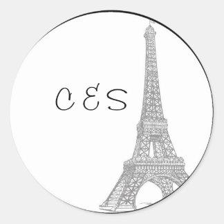 20 Wedding in Paris Favor Stickers