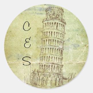 20 Wedding in Pisa Favor Stickers