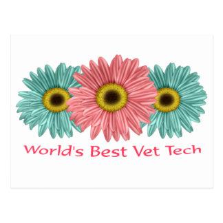20 world's best vet tech postcard