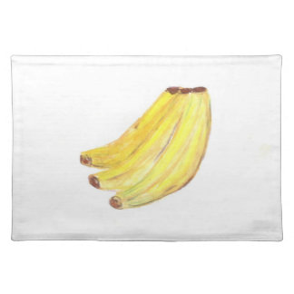 "20""x14"" TABLE PLACE MAT BANANAS - PASTEL ART"