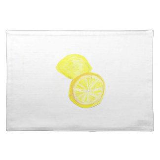 """20""""x14"""" TABLE PLACE MAT LEMONS - PASTEL ART Cloth Placemat"""