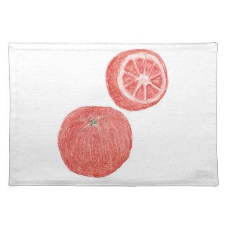 """20""""x14"""" TABLE PLACE MAT ORANGES - PASTEL ART Cloth Placemat"""