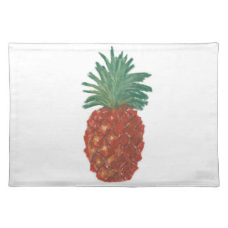 "20""x14"" TABLE PLACE MAT PINEAPPLE - PASTEL ART Cloth Placemat"