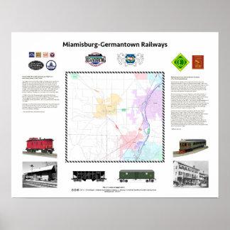 "20"" x16"", ferrocarriles de Ohio: Póster"