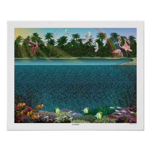 20 x 16 Coral Reef 3D Poster by Magic Eye