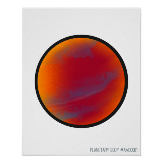 """20"""" x 16"""", Planetary Body #1 Poster"""