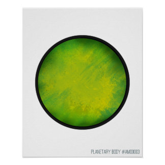 """20"""" x 16"""", Planetary Body #3 Poster"""