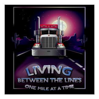 20 x 20 Semi Truck Poster