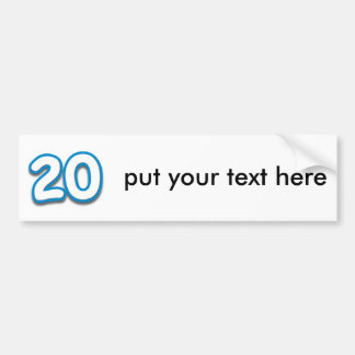 20 Year Birthday or Anniversary - Add Text Bumper Stickers
