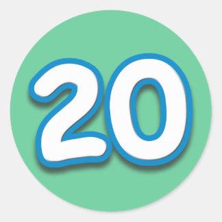 20 Year Birthday or Anniversary - Add Text Classic Round Sticker