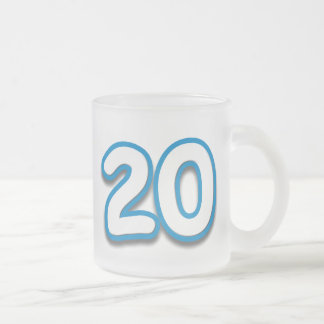 20 Year Birthday or Anniversary - Add Text Frosted Glass Coffee Mug