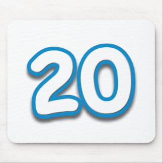 20 Year Birthday or Anniversary - Add Text Mouse Pad