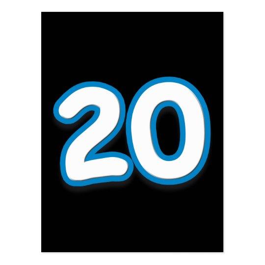 20 Year Birthday or Anniversary - Add Text Postcard