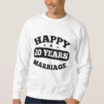 20 Year Happy Marriage Sweatshirt