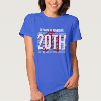 20 Year School Reunion Any Calendar Year STAR V184 T Shirt