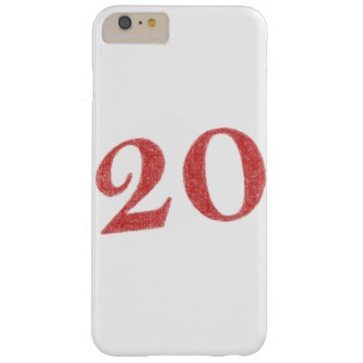 20 years anniversary barely there iPhone 6 plus case