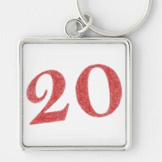 20 years anniversary keychain