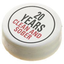 20 Years Clean and Sober Chocolate Dipped Oreo
