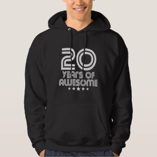 20 Years Of Awesome 20th Birthday Hoodie