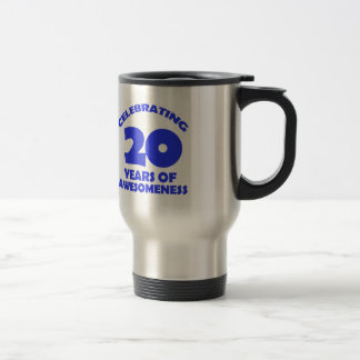 20 years old birthday designs travel mug
