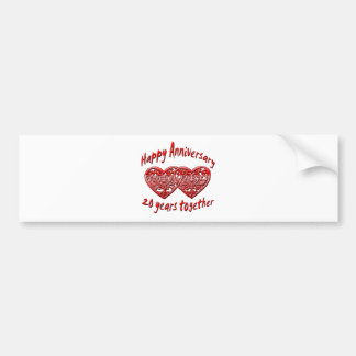 20 Years Together Bumper Sticker