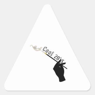 20s fresco pegatina trianguladas personalizadas