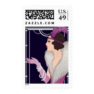 20's Vintage Flapper Stamp