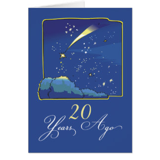 20th Adoption Anniversary with Stars and Night Sky Card