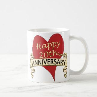 20th. Anniversar Classic White Coffee Mug