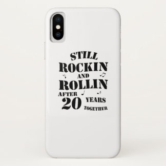 20th Anniversary - 20 Years Couples Gift iPhone X Case