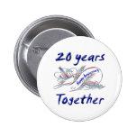 20th. Anniversary 2 Inch Round Button
