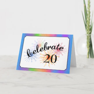 20th Anniversary Celebration Card