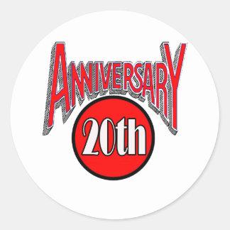 20th anniversary classic round sticker