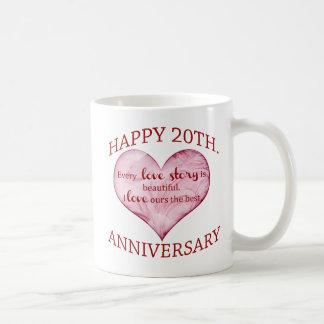 20th. Anniversary Coffee Mug