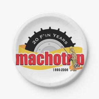20th Anniversary Commemorative Paper Plates