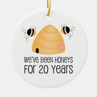 20th Anniversary Couple Gift Christmas Tree Ornaments