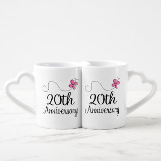 20th Anniversary Couples Mugs Couples' Coffee Mug Set
