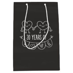 20th anniversary gift bags zazzle