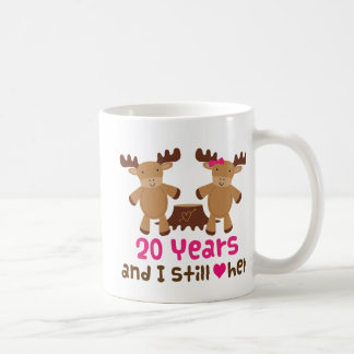 20th Anniversary Gift For Him Classic White Coffee Mug
