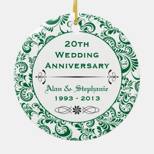 20th wedding anniversary flower 20th anniversary ornament zazzle 1061