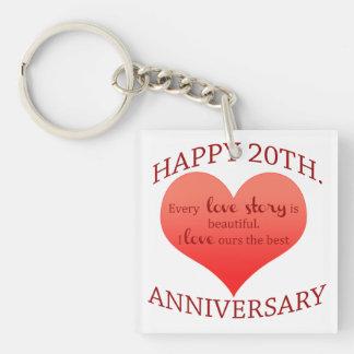 20th. Anniversary Keychain