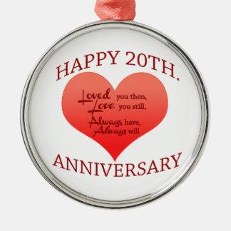 20th. Anniversary Metal Ornament