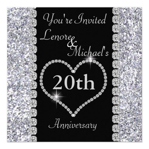 Personalized 20th anniversary party invitations 20th anniversary party invitation stopboris Choice Image