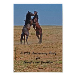 20th Anniversary Party Invitation Dancing Horses